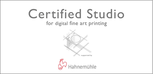 Hahnemühle Certified Studio for digital fine art printing
